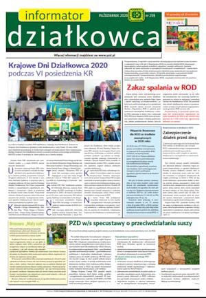 Informator Działkowca - październik 2020